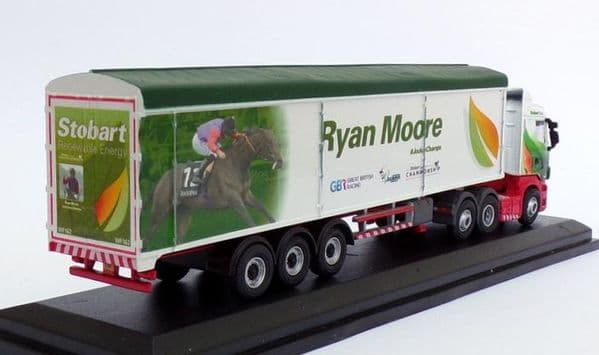 Oxford 76SHL08WF SHL08WF 1/76 OO Scania Walking Floor Eddie Stobart  Ryan Moore Jockey